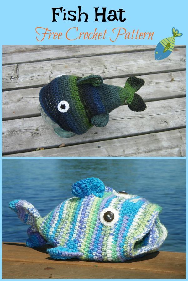 Fish Hat Free Crochet Pattern Cool Creativities