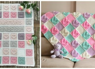 Heart Bubble Stitch Baby Blanket Free Crochet Patterns