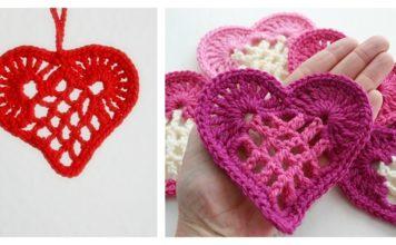 Heart Motif Free Crochet Pattern