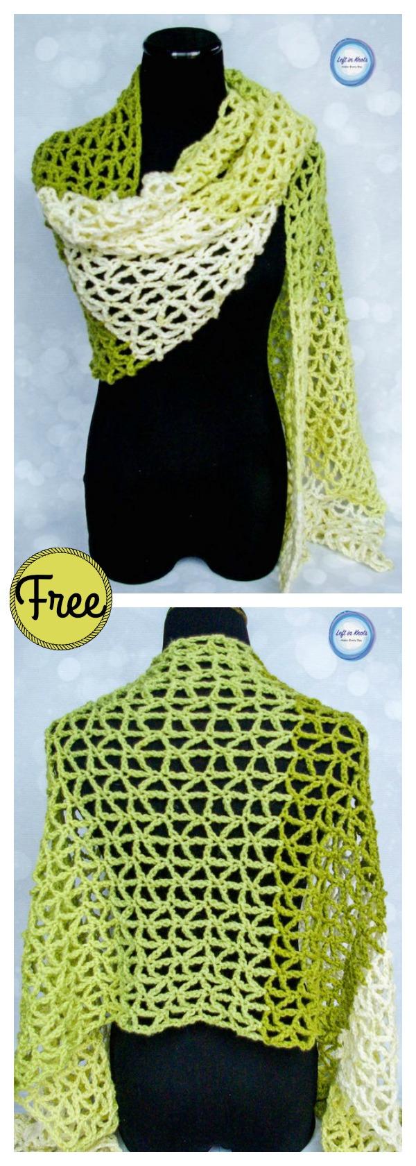 Lace Greenery Wrap Free Crochet Pattern