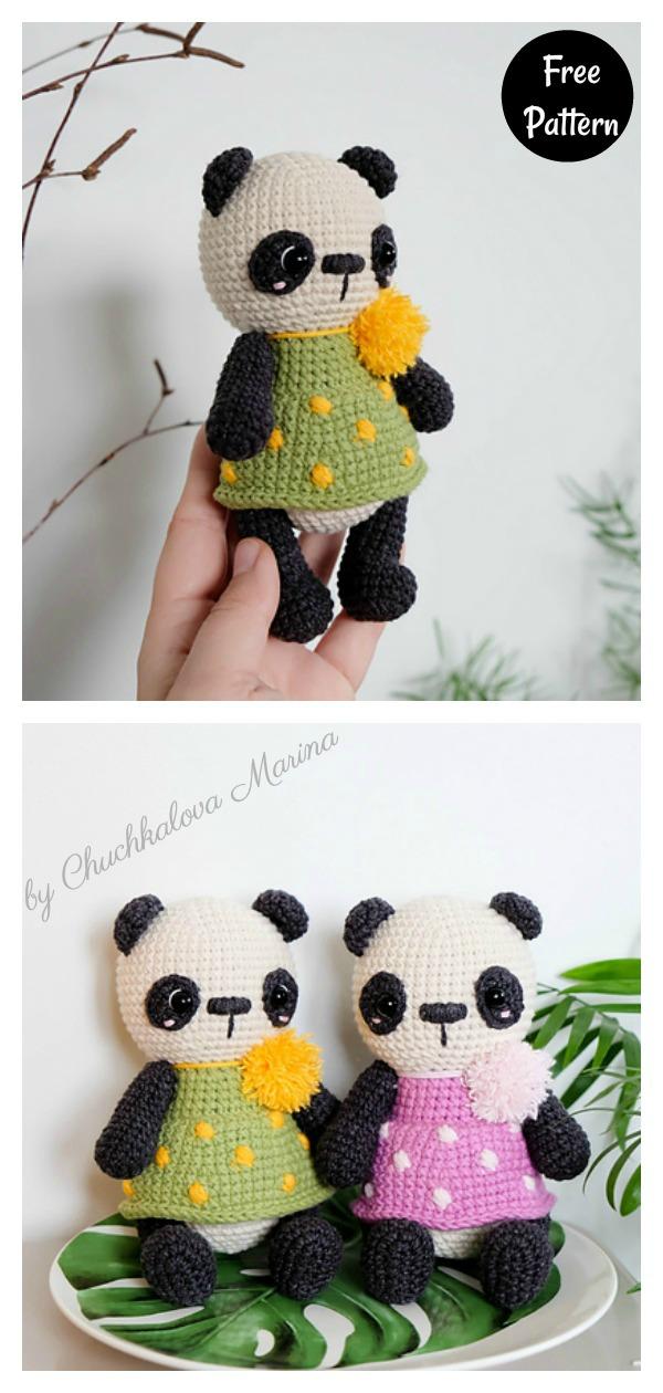 10 Free Crochet Panda Patterns - moogly | 1260x600