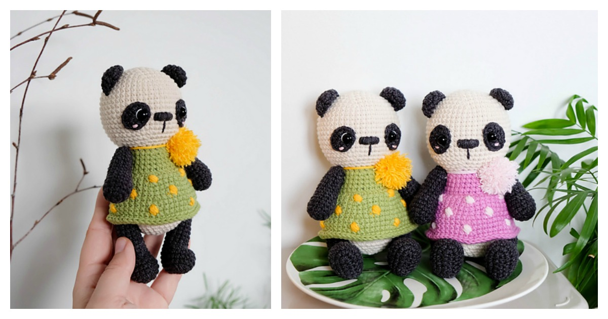 Louis the Panda amigurumi pattern - Amigurumipatterns.net | 630x1200