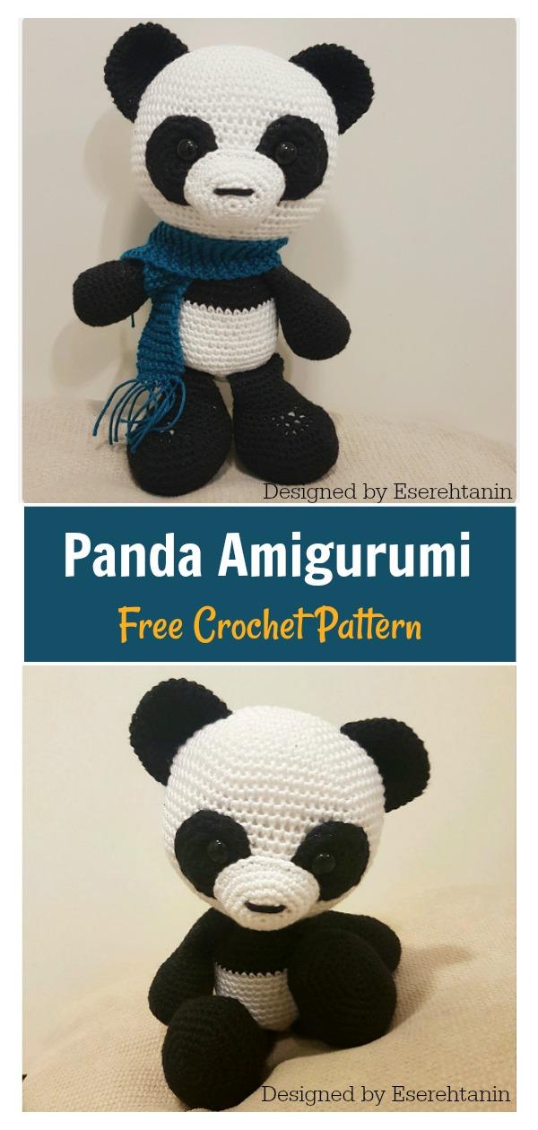 Panda Bear (English), PDF crochet bear pattern, cute crochet panda ... | 1260x600
