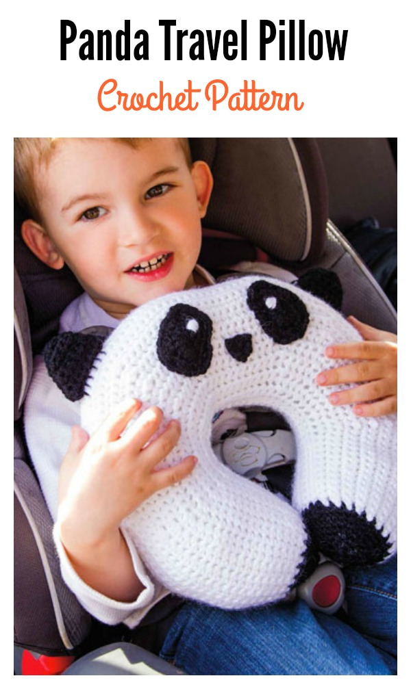Panda Travel Pillow Crochet Pattern