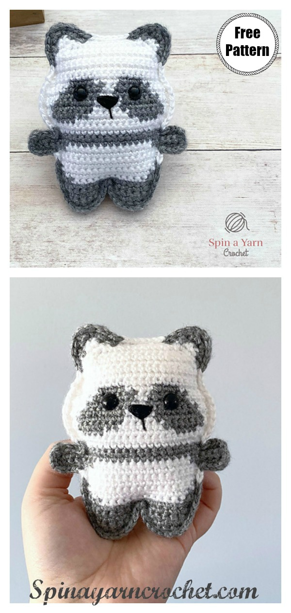 Pocket Panda Free Crochet Pattern