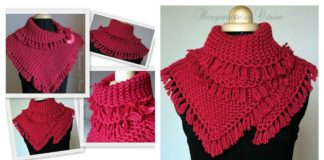 Pretty Tassels Scarf Free Knitting Pattern