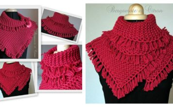 Pretty Tassels Scarf Free Knitting Pattern