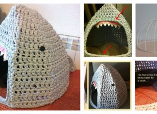 Shark Cat House Free Crochet Pattern