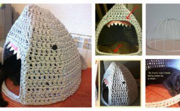 Shark Cat House Free Crochet Pattern