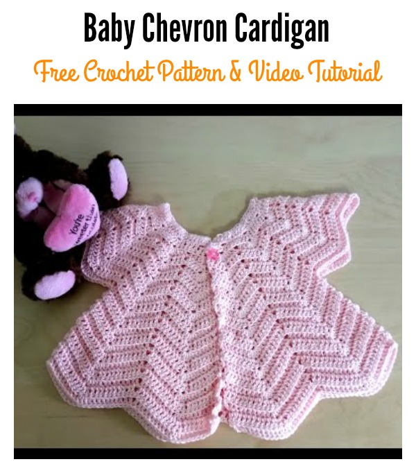 Star Shaped Baby Chevron Cardigan Free Crochet Pattern And Video