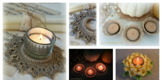 Tealight Candle Holder Free Crochet Pattern