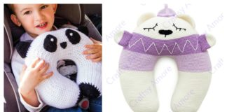Panda Travel Pillow Crochet Pattern