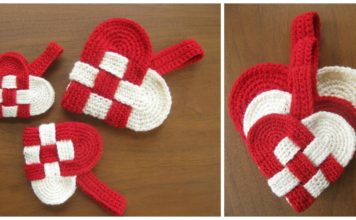 Weaving Danish Heart Free Crochet Pattern