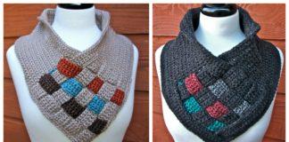 Be Weaving Cowl Free Crochet Pattern