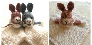 Bunny Mini Cuddly Blankie Free Knitting Pattern