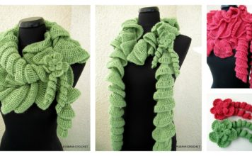 Cascading Ruffles Scarf Crochet Pattern