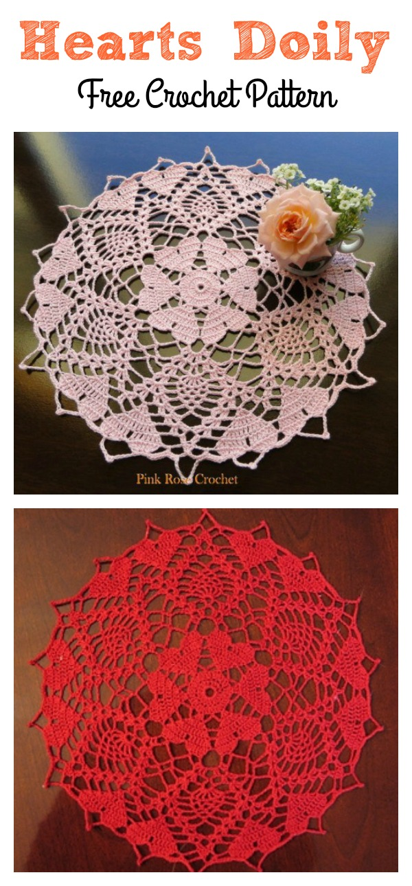 Crochet-a-long Hearts Doily Free Patterns