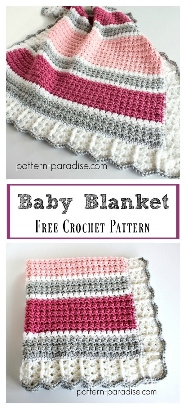 Essentials Baby Blanket Free Crochet Pattern