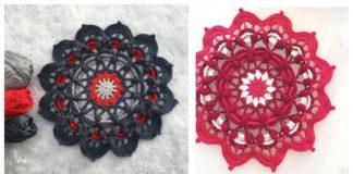 Frozen Lotus Doily Free Crochet Pattern