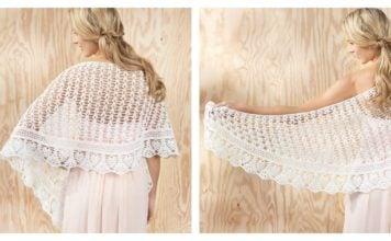 Gardenia Lace Shawl Free Crochet Pattern