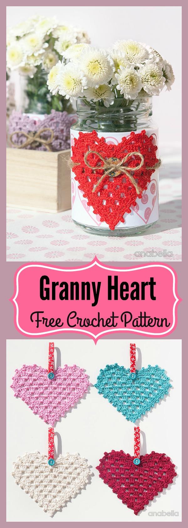 Granny Heart Free Crochet Pattern