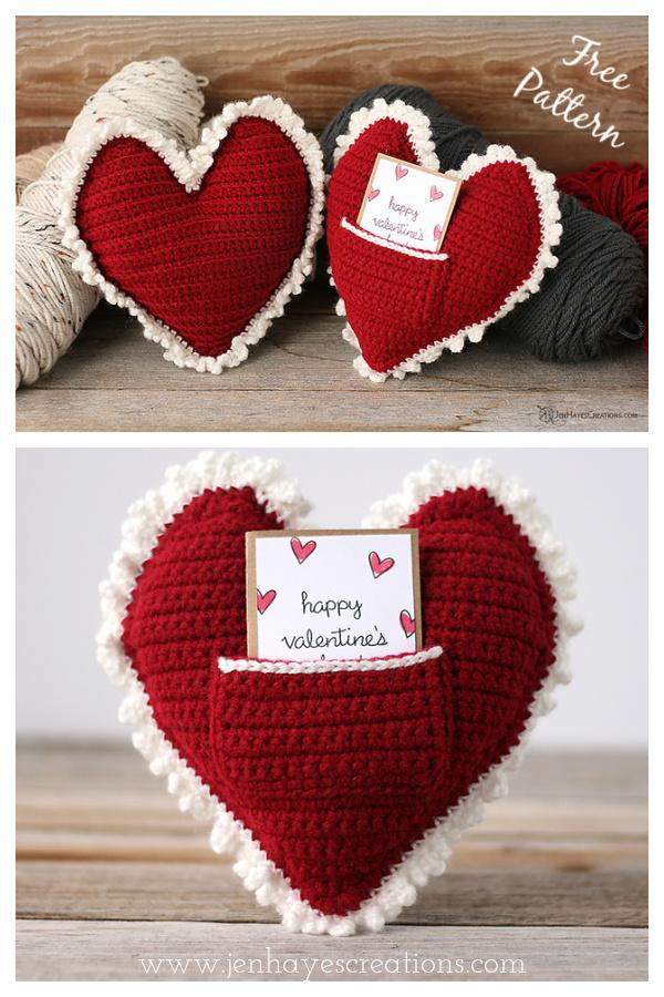 Heart Pillow Free Crochet Pattern