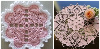 Hearts Around Doily Free Crochet Patterns