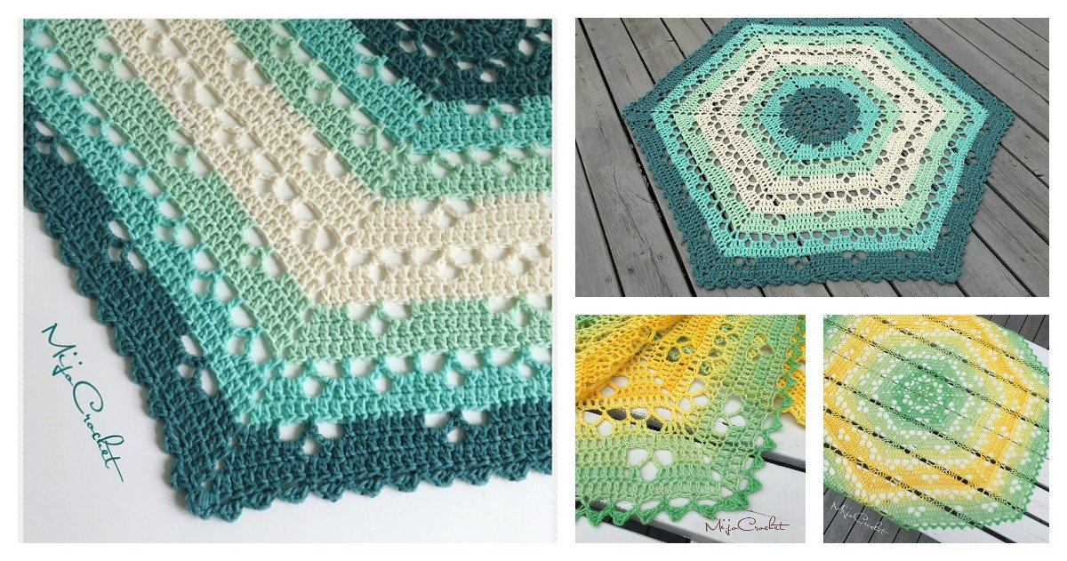 Lace Cloudberry Blanket Free Crochet Pattern