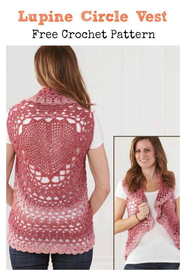 Lupine Circle Vest Free Crochet Pattern