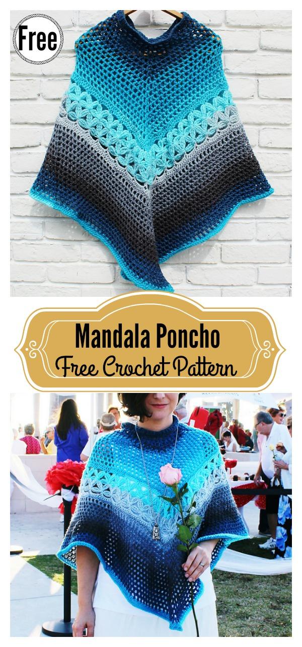 Mandala Poncho Free Crochet Pattern