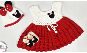 Mickey Minnie Mouse Baby Dress Set Free Crochet Pattern