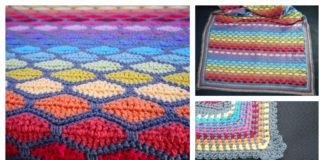 Rainbow Stained Glass Blanket Free Crochet Pattern
