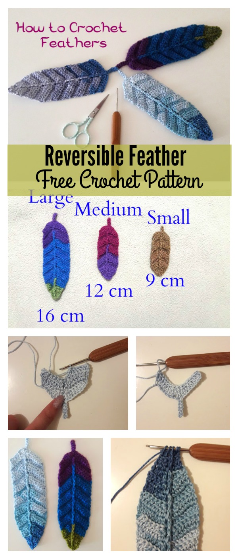 Reversible Feather Free Crochet Pattern