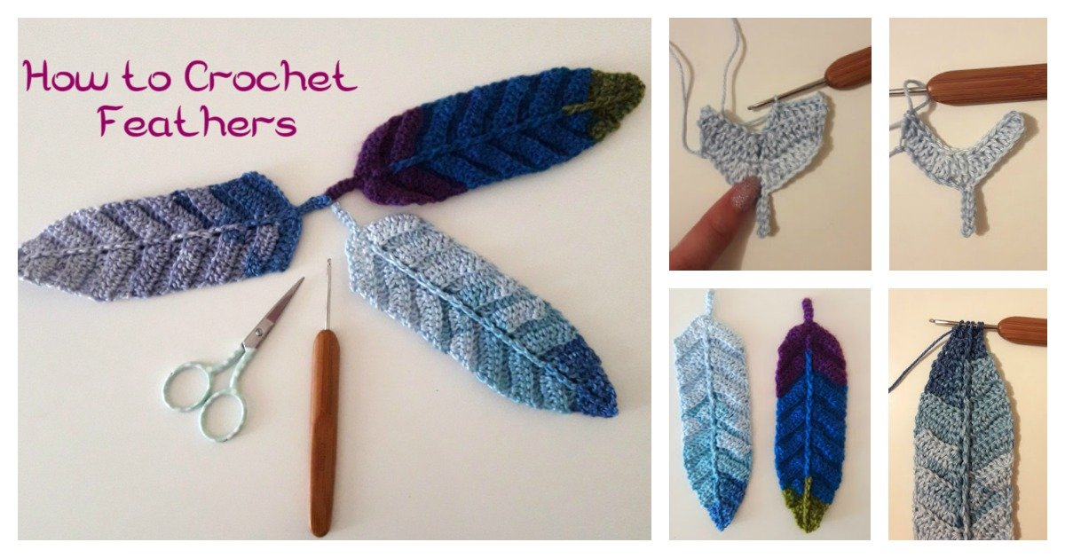 Reversible Feather Free Crochet Pattern