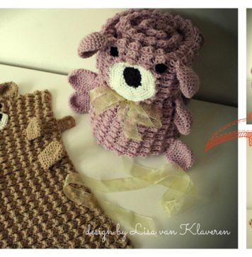 Roly Poly Teddy Bear Blanket Crochet Pattern