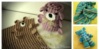 Roly Poly Teddy Bear Blanket Crochet Pattern