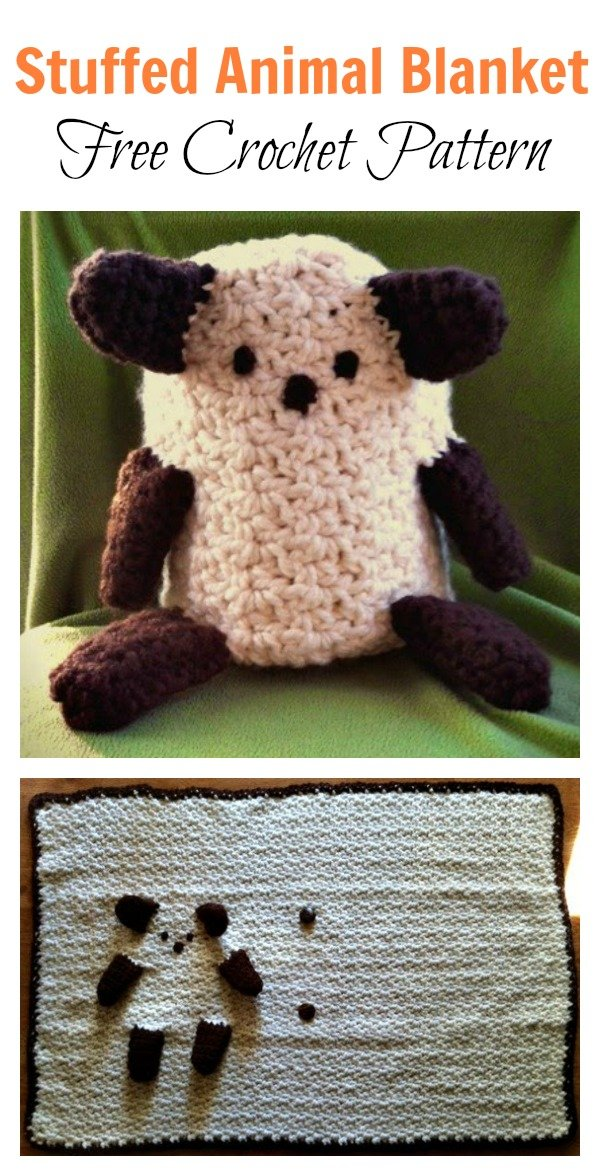 Stuffed Animal Blanket Free Crochet Pattern