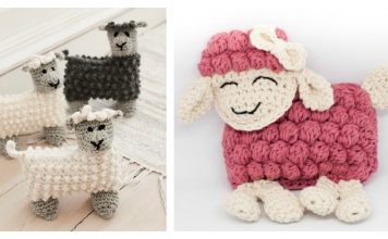 Sweet Bubble Stitch Ragdoll Lamb Free Crochet Pattern