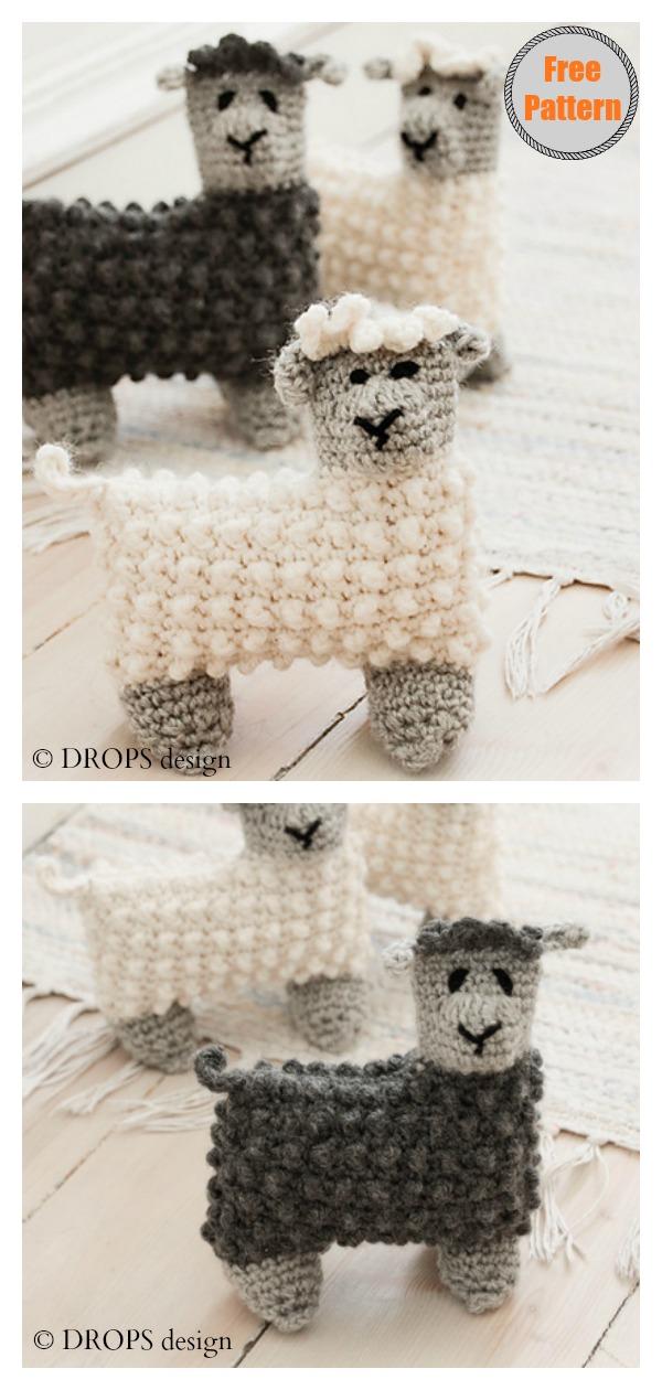 Sweet Bubble Stitch Ragdoll Sheep Free Crochet Pattern