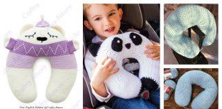 Travel Neck Pillow Free Crochet Pattern