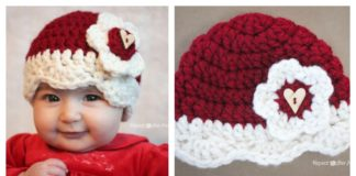 Valentine Hat Free Crochet Pattern (All Sizes)