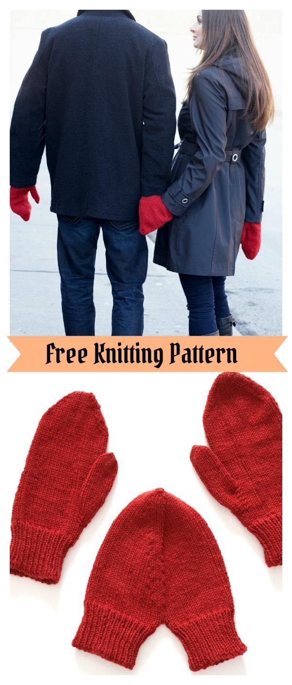Valentine Mittens Free Knitting Pattern