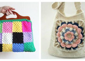 7 Granny Square Bag Free Crochet Pattern