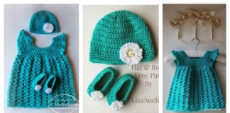 Baby Set Hat Booties and Dress Free Crochet Pattern