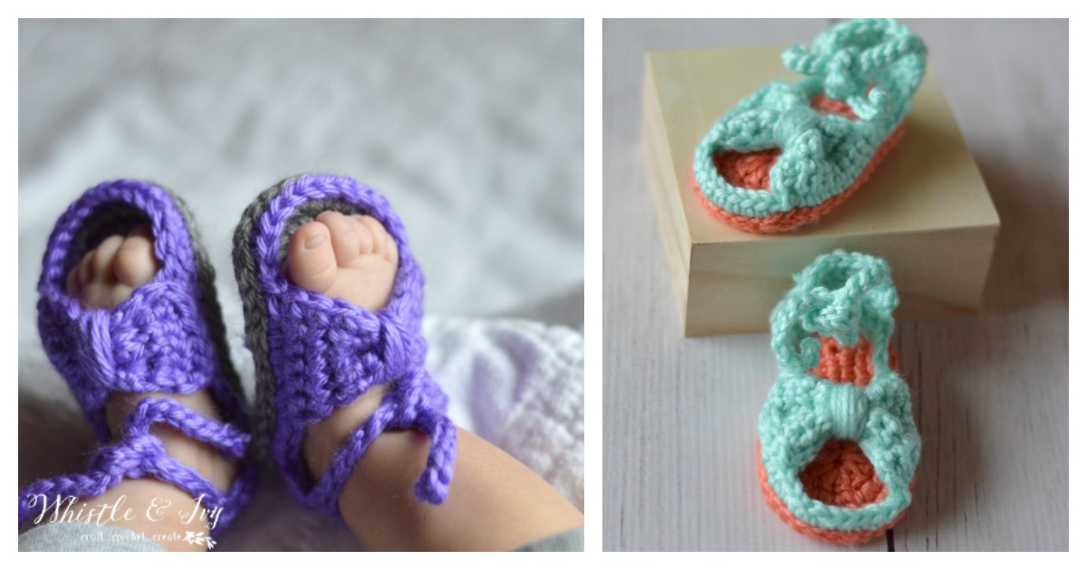 Bitty Bow Baby Sandals Free Crochet Pattern And Video Tutorial