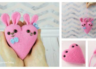 Bunny Heart Amigurumi Free Crochet Pattern