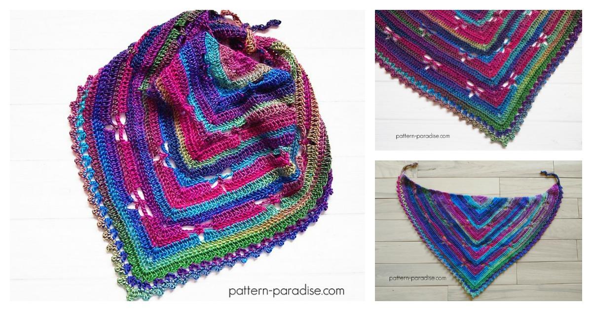 Dragonfly Bandana Cowl Free Crochet Pattern
