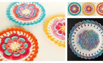 Embellished Decorative Plate Free Crochet Pattern