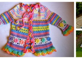 Little Girl's Colorful Summer Coat Free Crochet Pattern