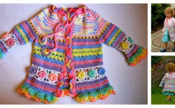 Little Girl's Colorful Summer Coat Free Crochet Pattern